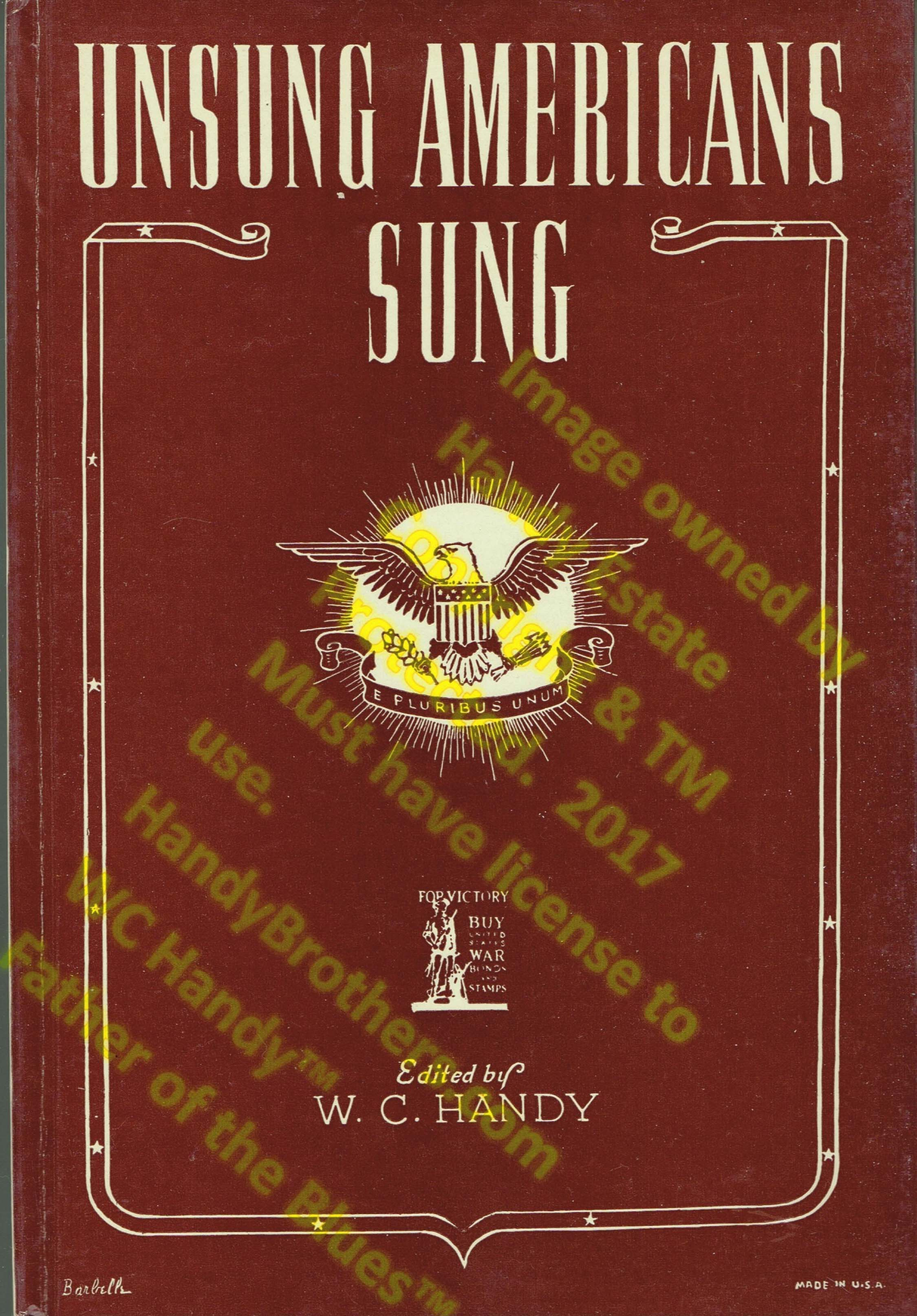 WC Handy Book Unsung Americans Sung