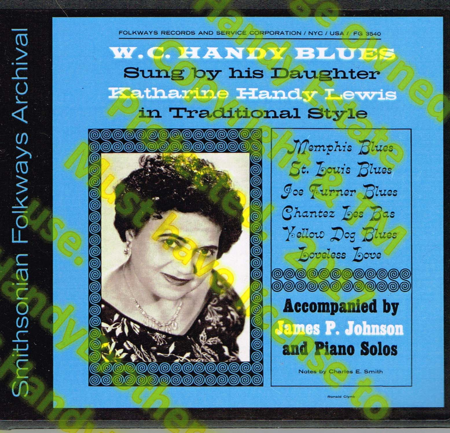 Katherine Handy Lewis singing WC Handy
